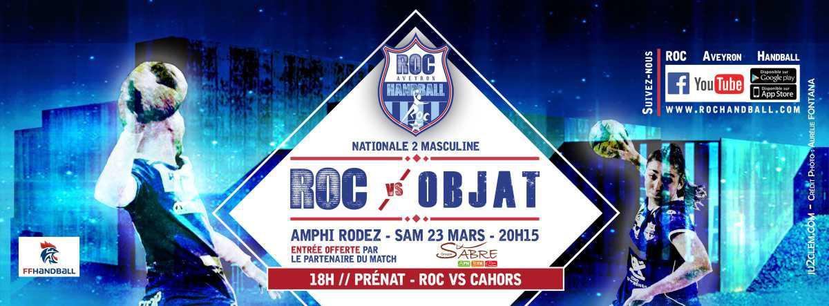 Match N2: ROC Aveyron Handball⚡️ Handball Objat Corrèze