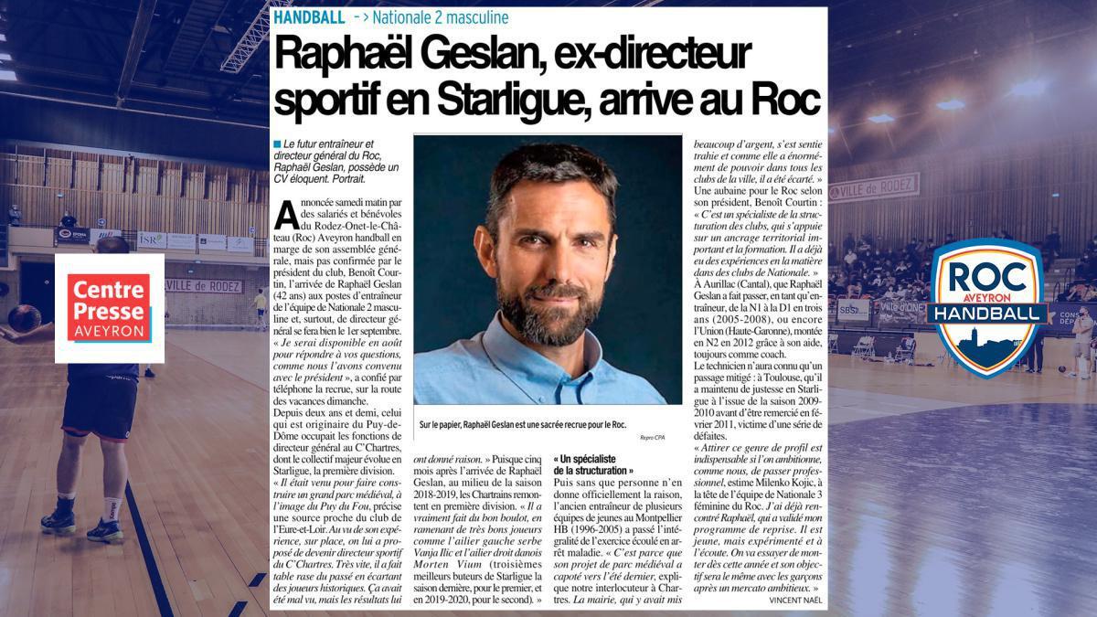 Raphaël Geslan avec le ROC !