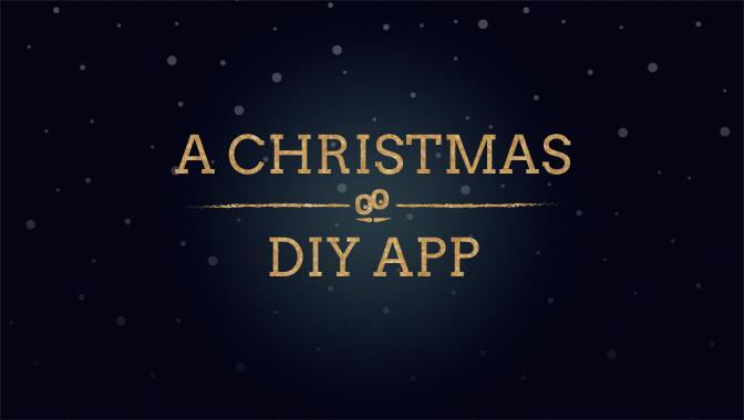 A história de como criamos um aplicativo para um Natal DIY