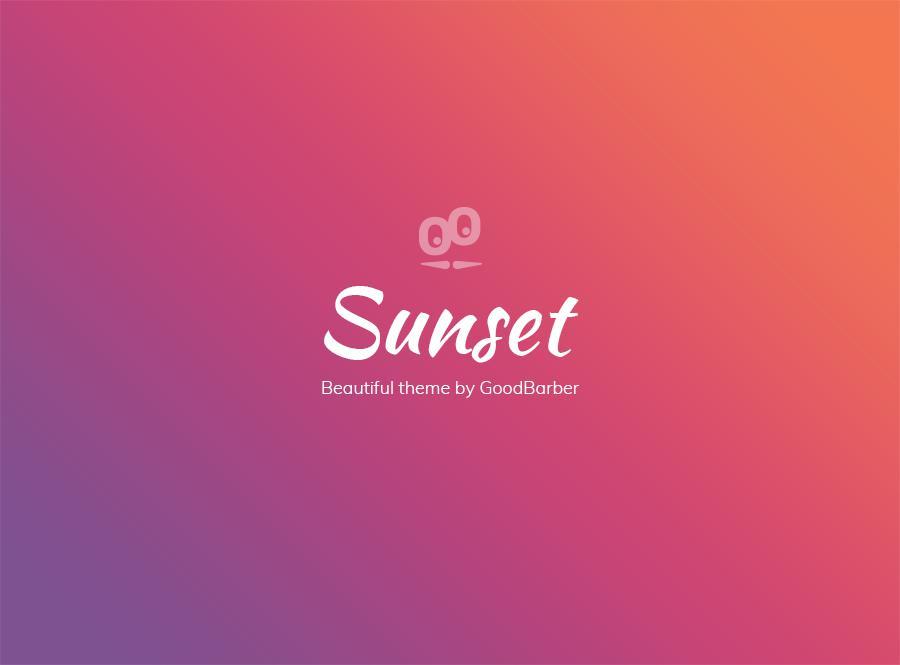 Novo tema GoodBarber 4.0: Sunset