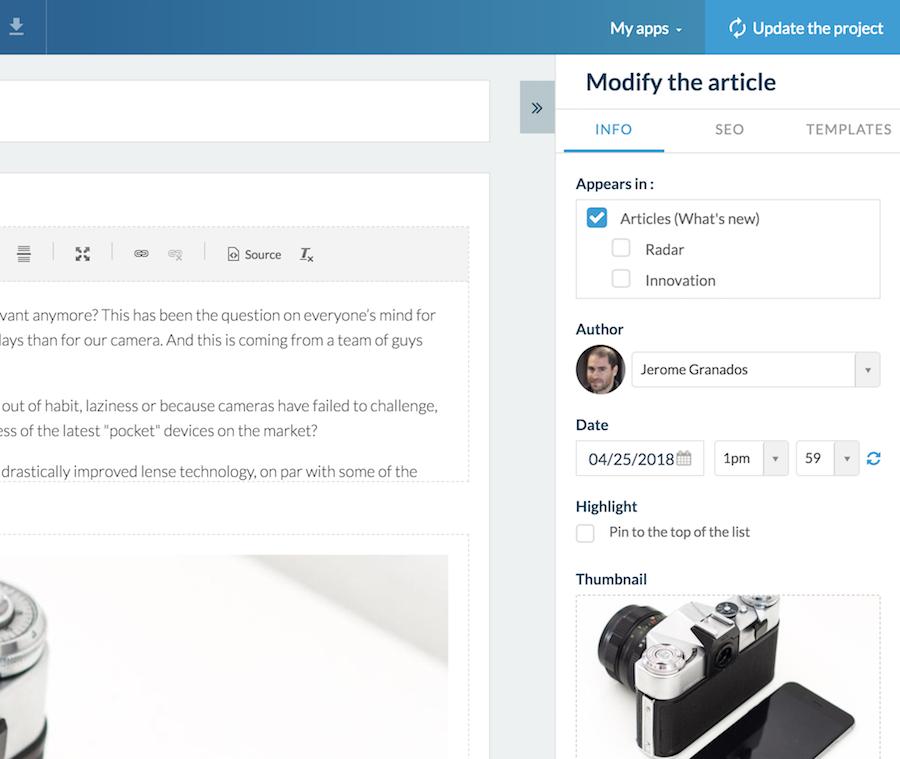 GoodBarber 4.5: velocidade e produtividade para criar os apps do futuro