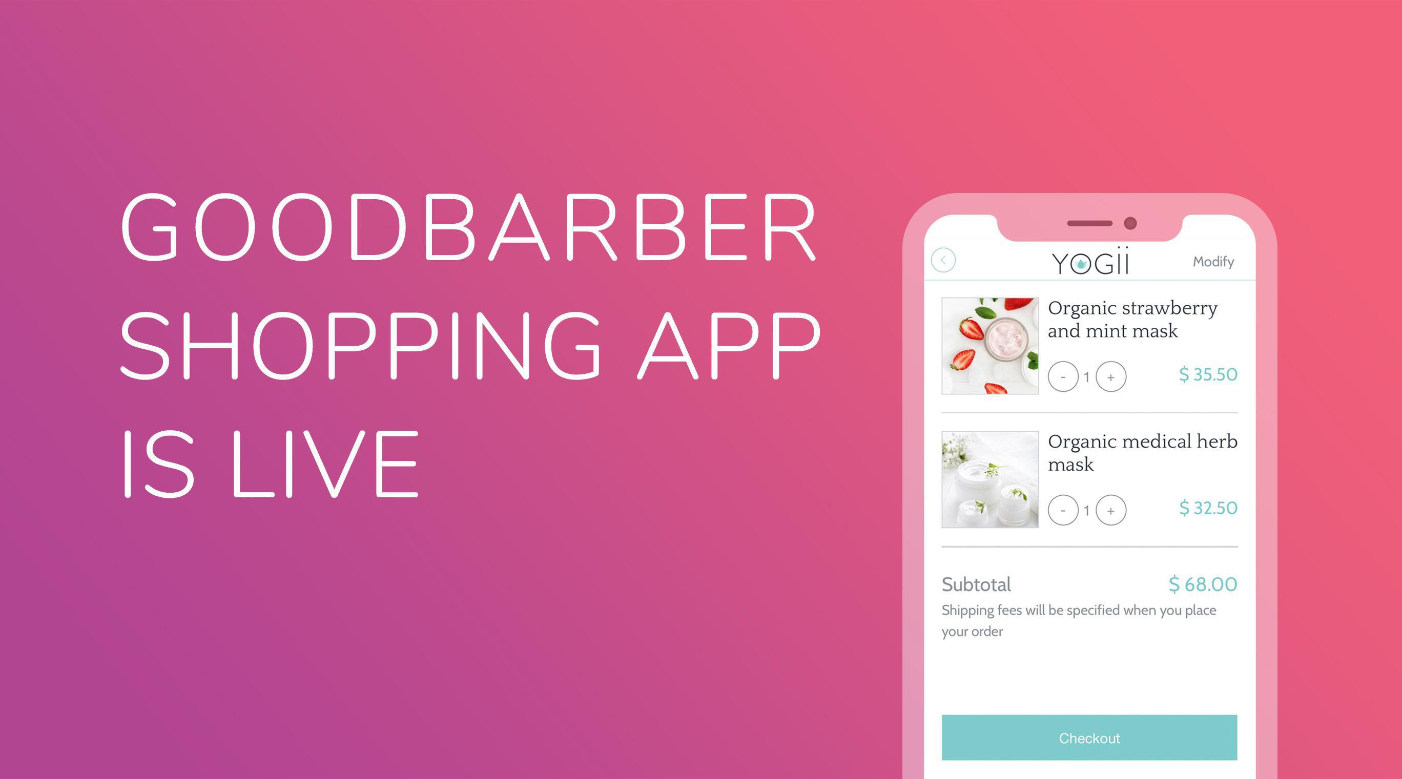 O GoodBarber Shopping App chegou!