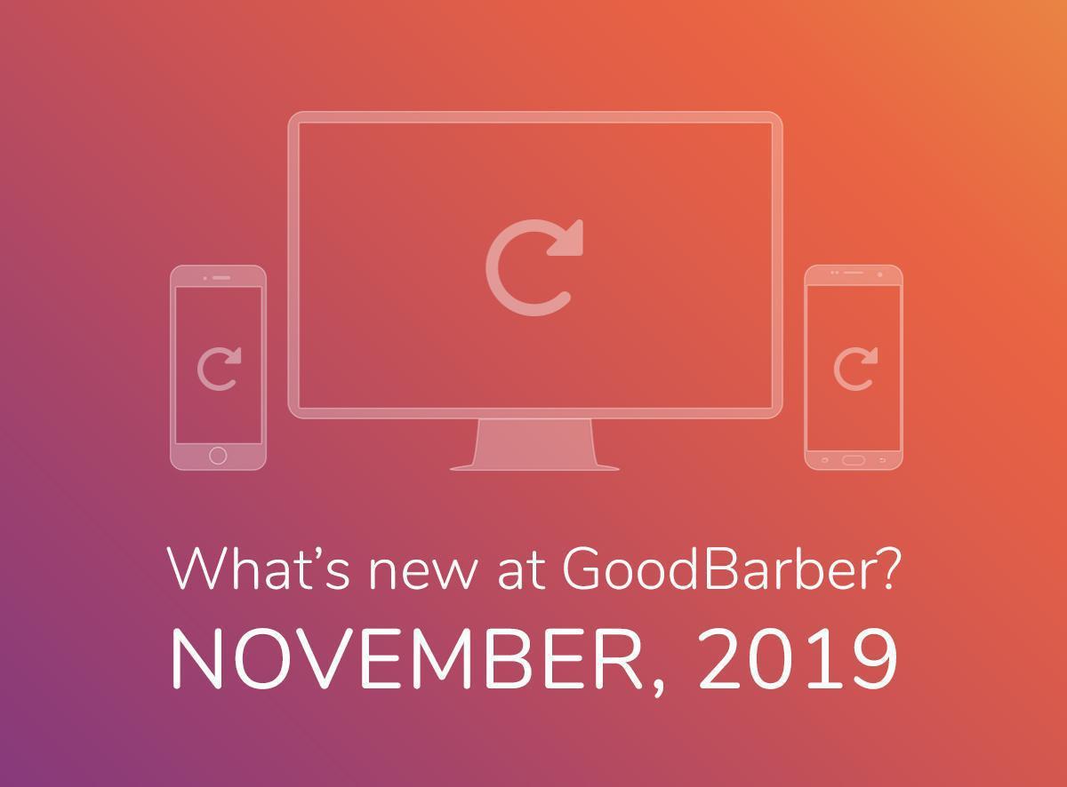 O que há de novo na GoodBarber? Novembro de 2019