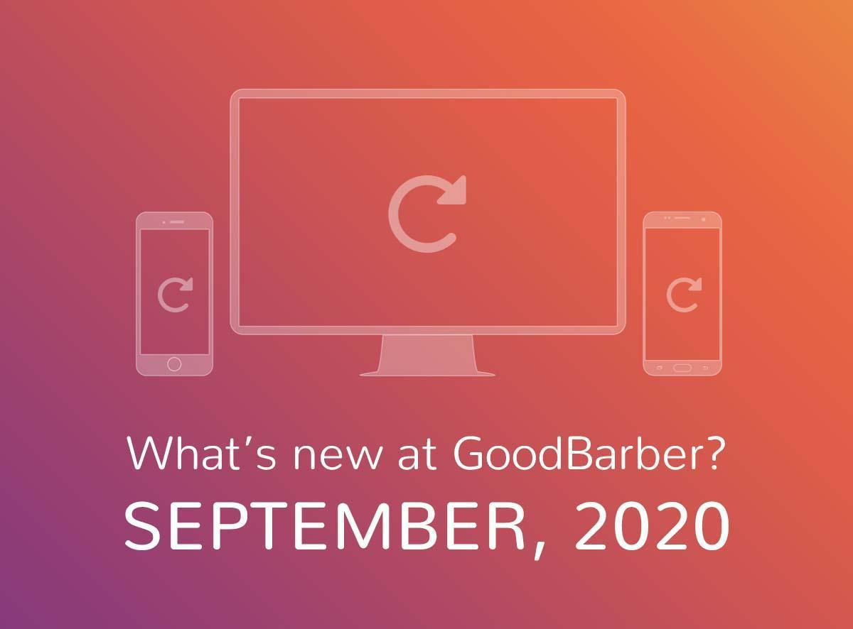 O que há de novo na GoodBarber? Setembro de 2020