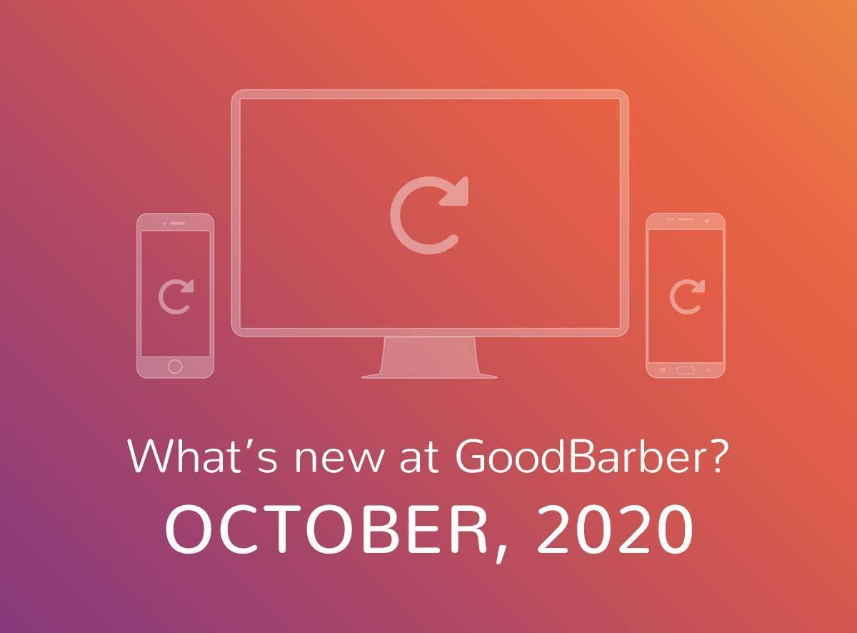 O que há de novo na GoodBarber? Outubro de 2020