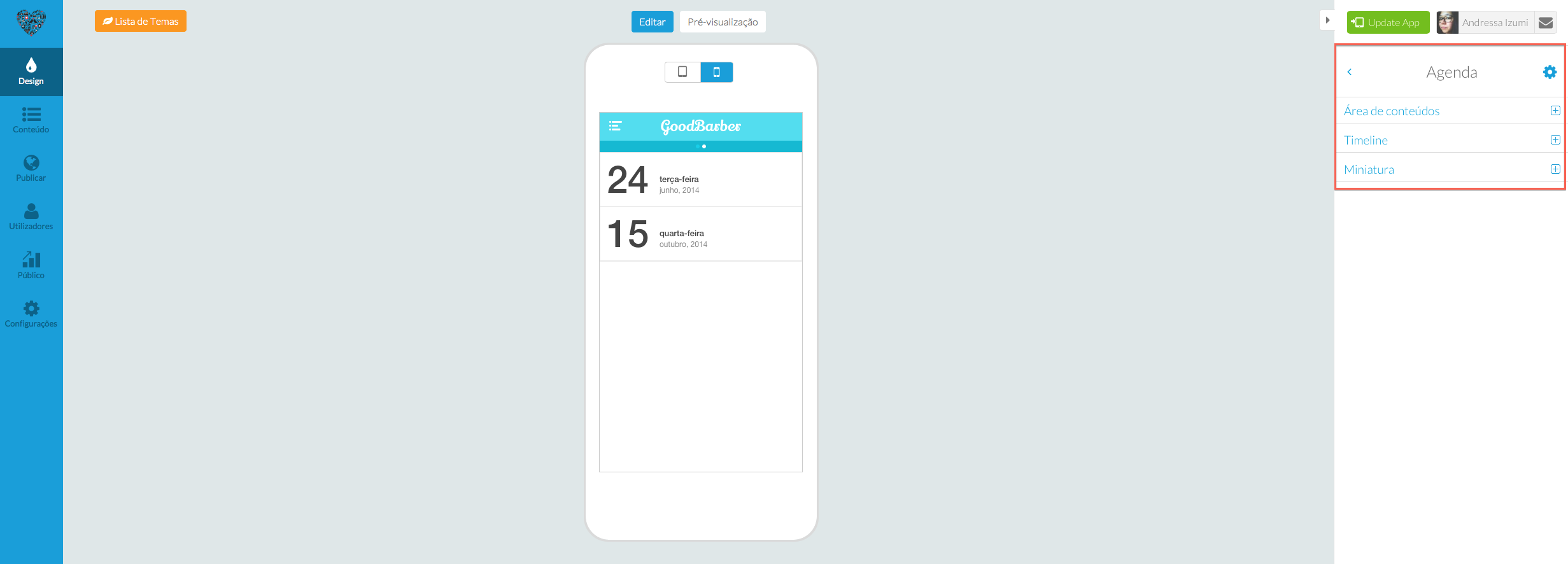 Um Design totalmente novo para os teus eventos; mais limpo e mais elegante!