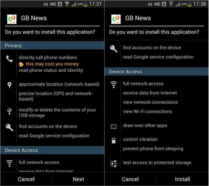 Permissões e proteção de privacidade da tua App