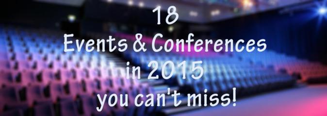 Os melhores eventos de 2015