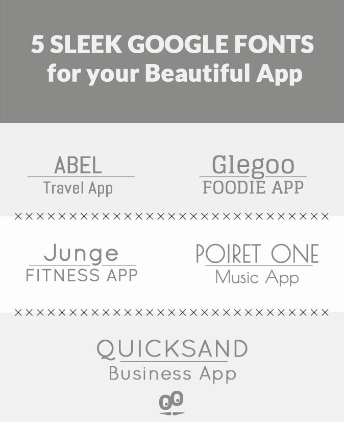 5 Google fonts elegantes para o seu Beautiful App