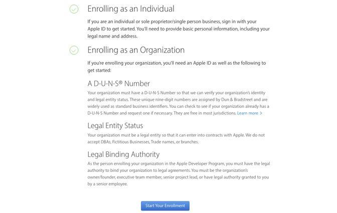 Como criar uma conta de Desenvolvedor Apple?
