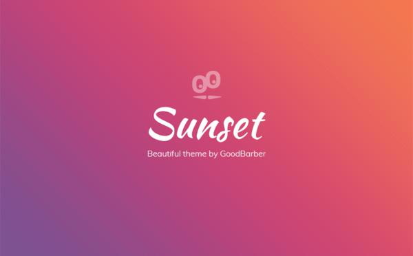 Novo tema GoodBarber 4.0: Sunset