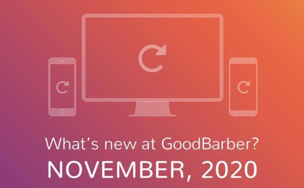 O que há de novo na GoodBarber? Novembro de 2020