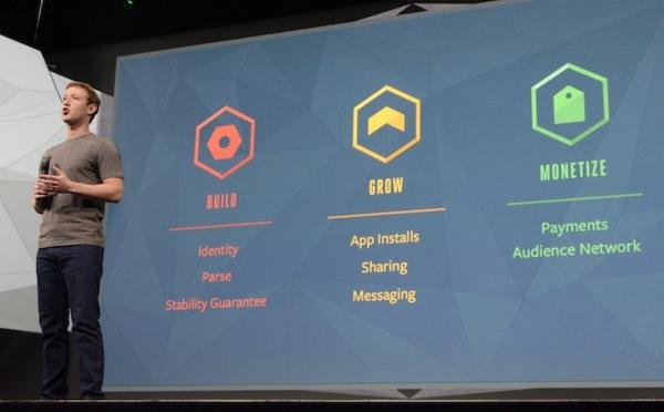 Keynote do Facebook f8: construir, crescer, monetizar