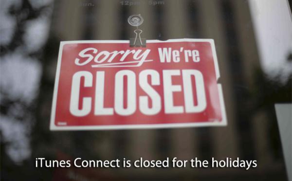 iTunes Connect encerrado no Natal