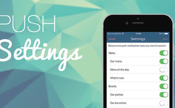 Configurações Push: para uma comunicação sob medida