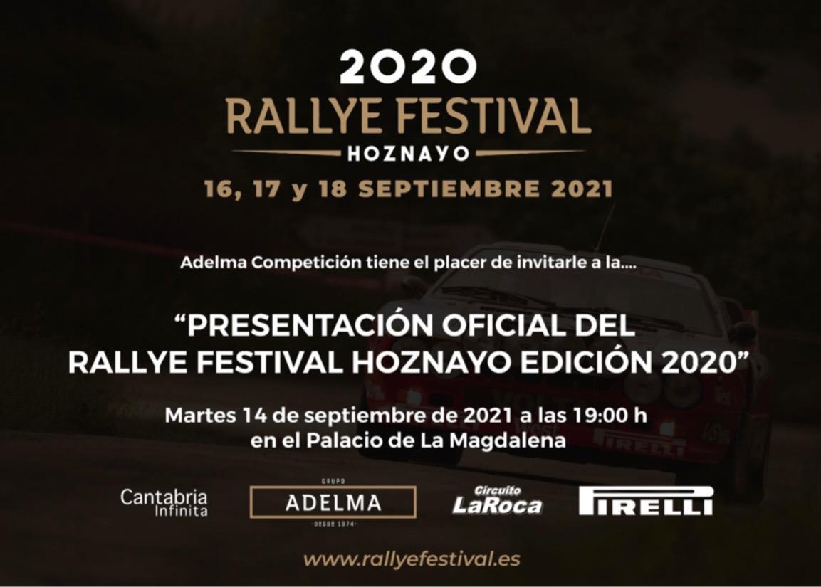 Presentación Oficial del Rallye Festival Hoznayo en el Palacio de la Magdalena de Santander