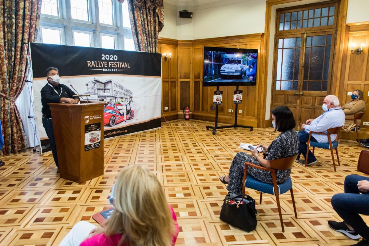 Presentado el Rallye Festival Hoznayo en el Palacio de La Magdalena de Santander