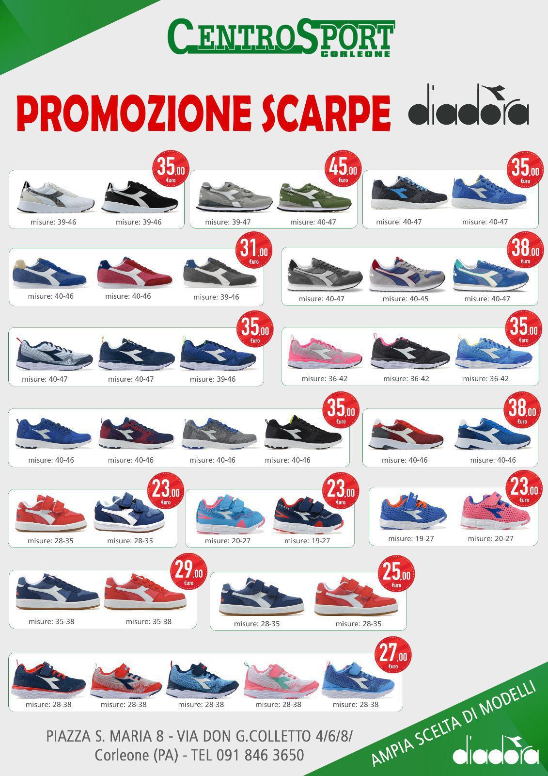 Promozione scarpe Diadora tanti modelli disponibili