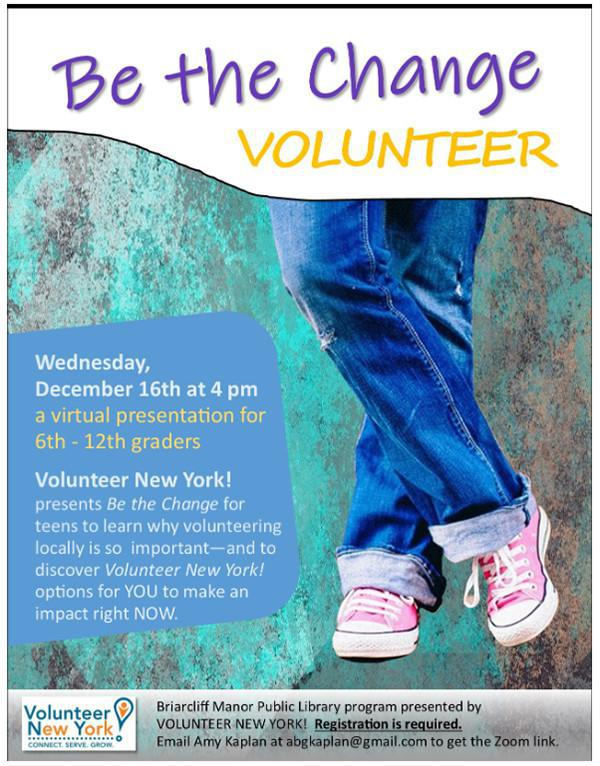 """Webinar: How to """"Be the Change"""" by Volunteering"""