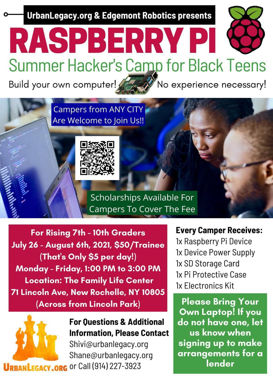 Summer STEM Hacker Camp for Black Teens in Westchester