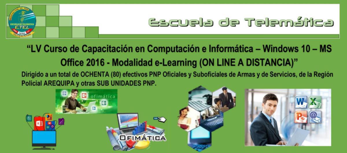 """Curso a """"DISTANCIA"""" en Computación e Informática"""