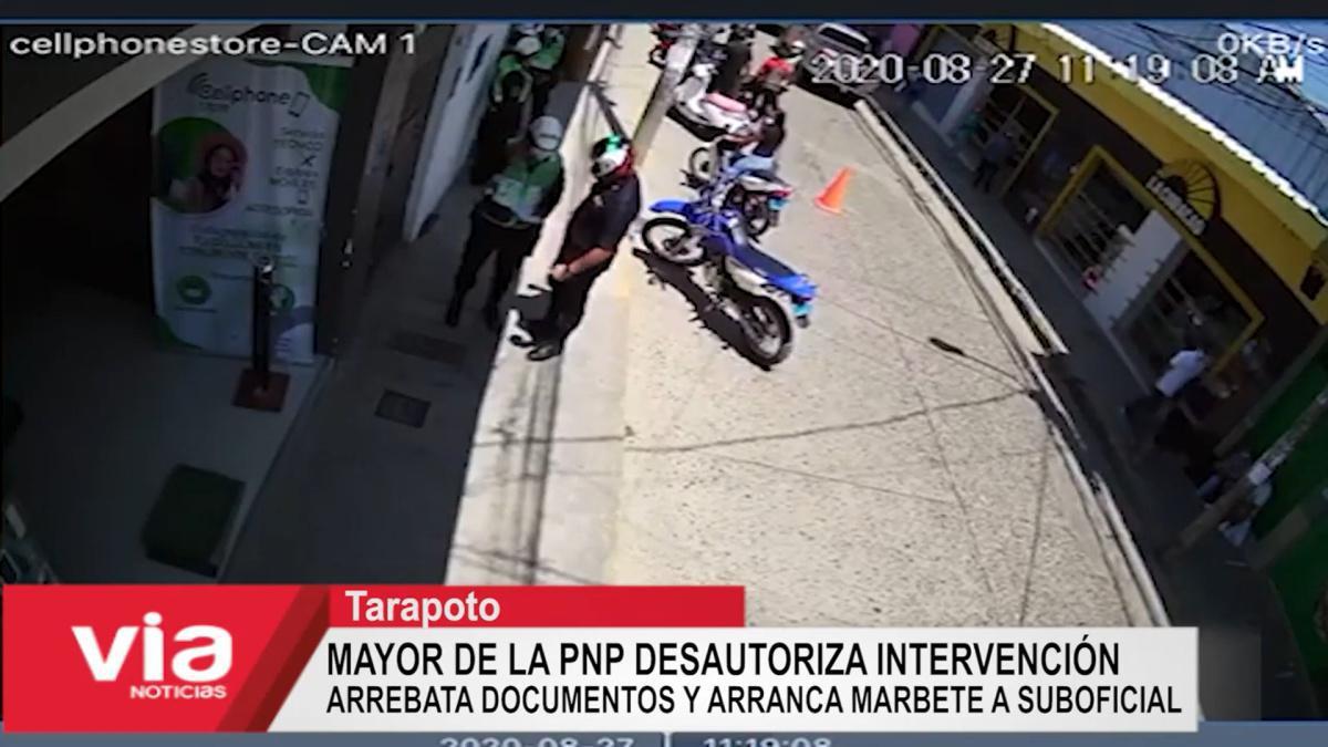 Mayor PNP Gonzales Torres da su versión tras presunto abuso de autoridad
