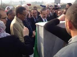 Algérie – Pose de la 1ère d'un centre d'échange de programmes radio-tv