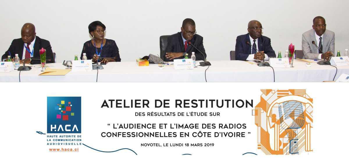 Côte d'ivoire – La HACA organise un atelier de restitution des résultats d'une étude sur l'audience et l'image des radios confessionnelles