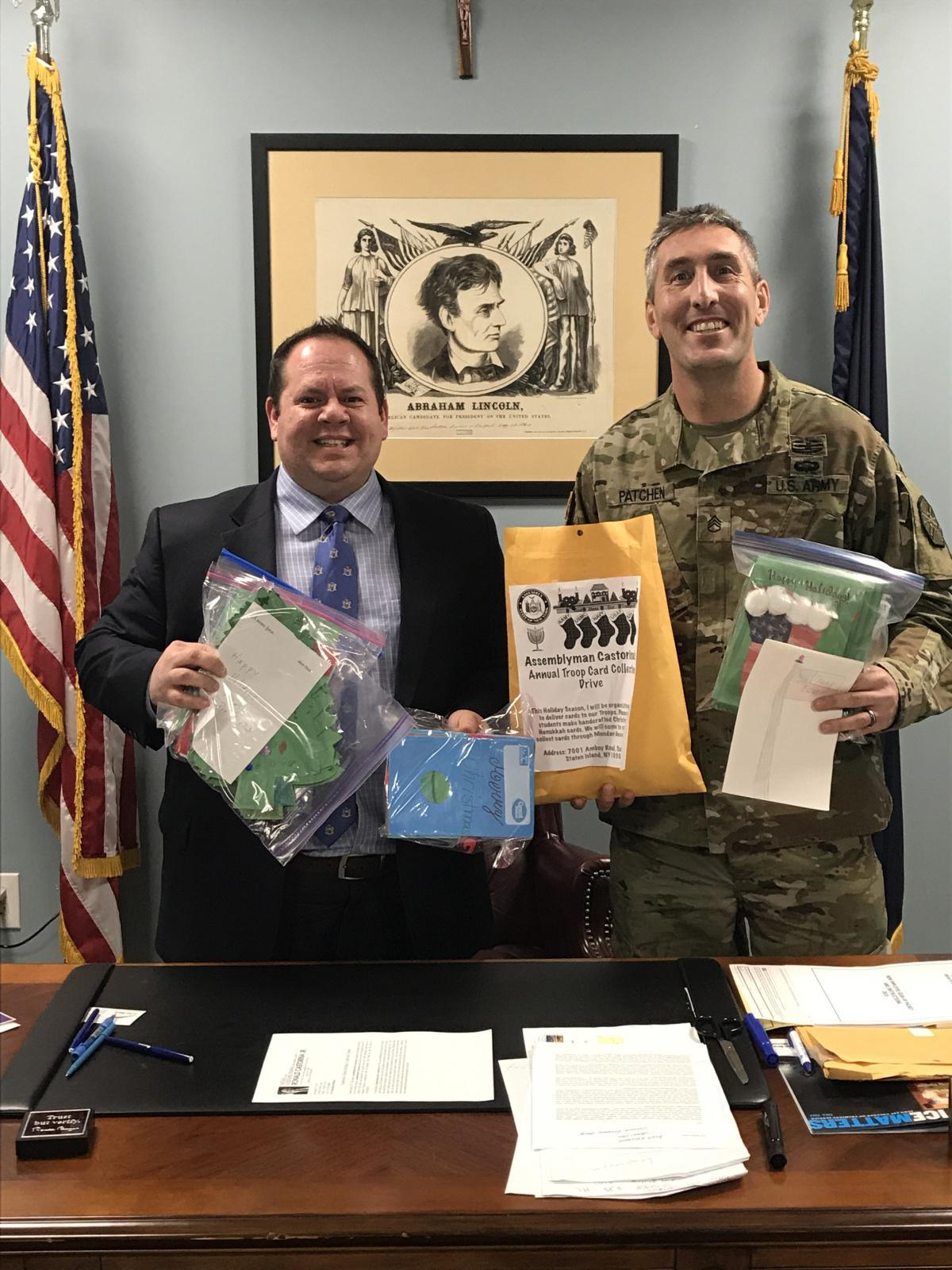 Castorina Collects Holiday Cards for Troops