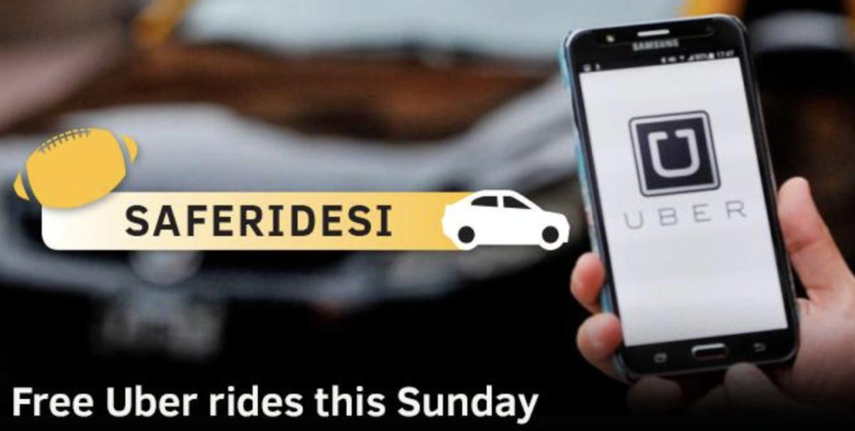 Free Uber Rides this Sunday