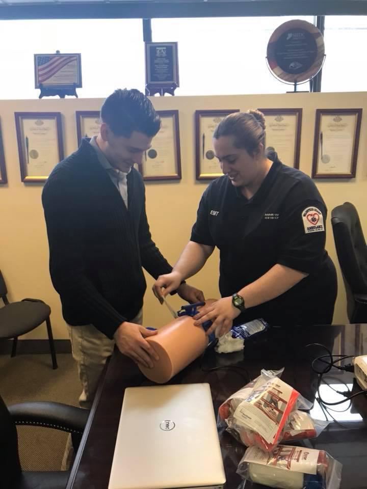 Cusick & SIUH Co-host Stop The Bleed Training