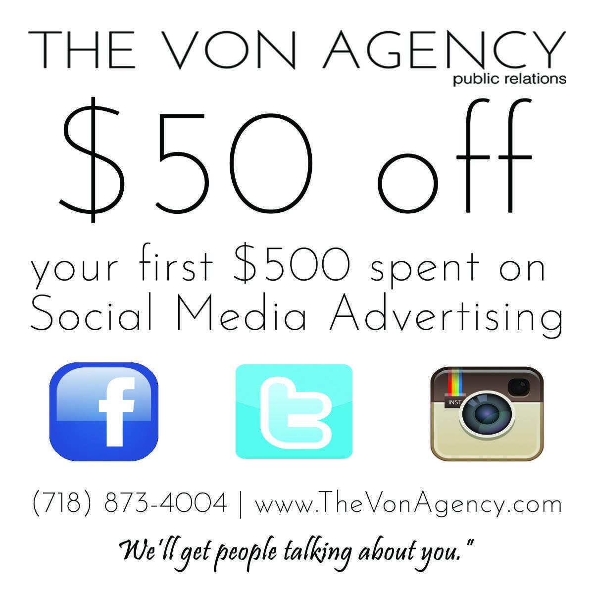 $50 Off Social Media Marketing