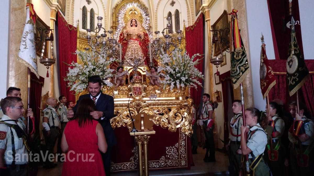 Histórico hermanamiento de nuestra Cofradía con la Vera+Cruz de Aznalcázar (Sevilla), donde participó La Pepa