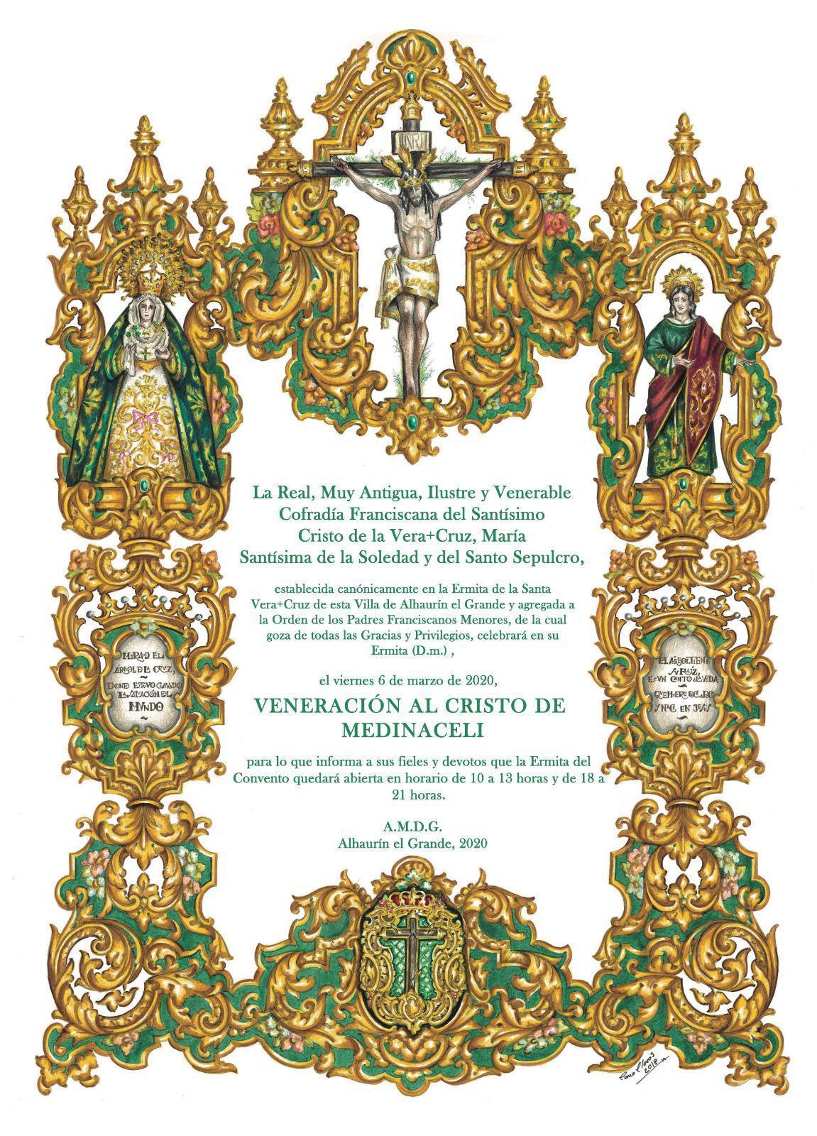 Veneración al Cristo de Medinaceli