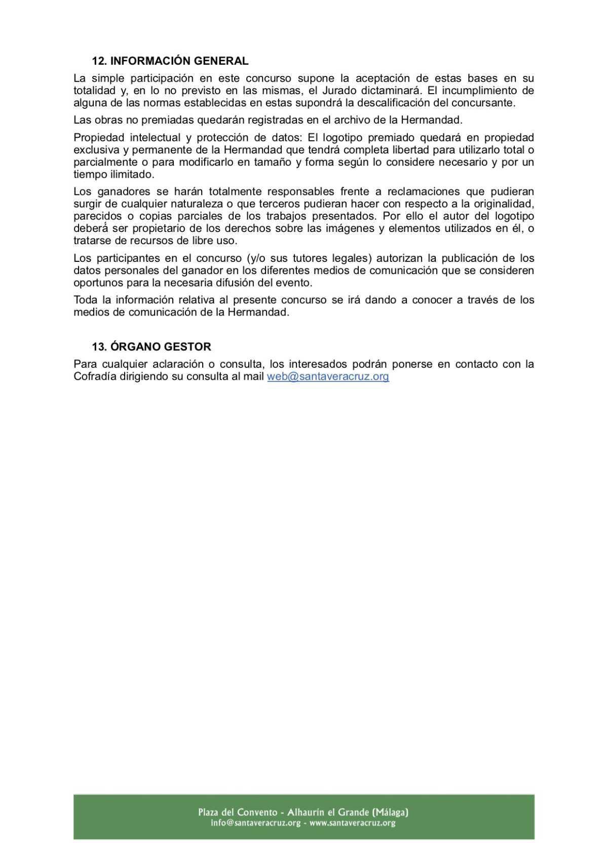 Convocatoria del Concurso para el diseño del logotipo conmemorativo del Centenario de la Ermita del Convento