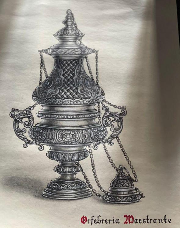 Diseño de incensario para la Vera+Cruz