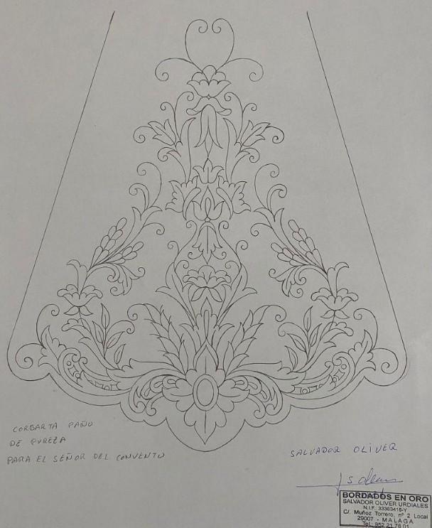 Corbata paño de pureza para el Señor del Convento