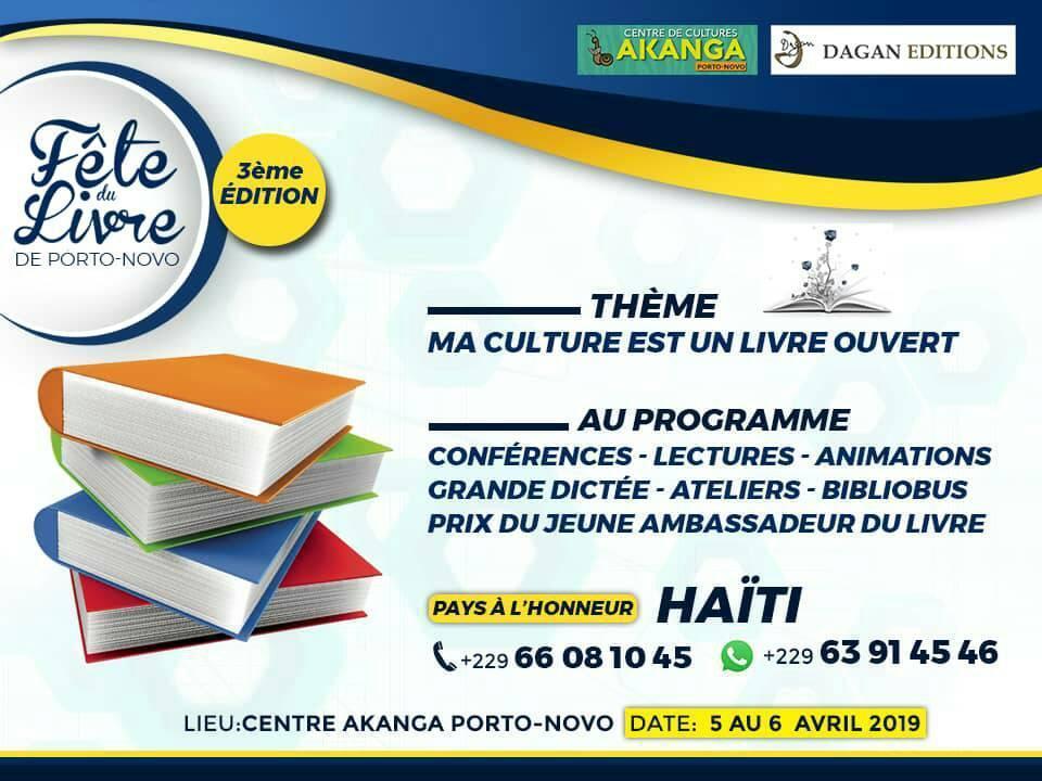 3e édition de la Fête du Livre à Porto Novo