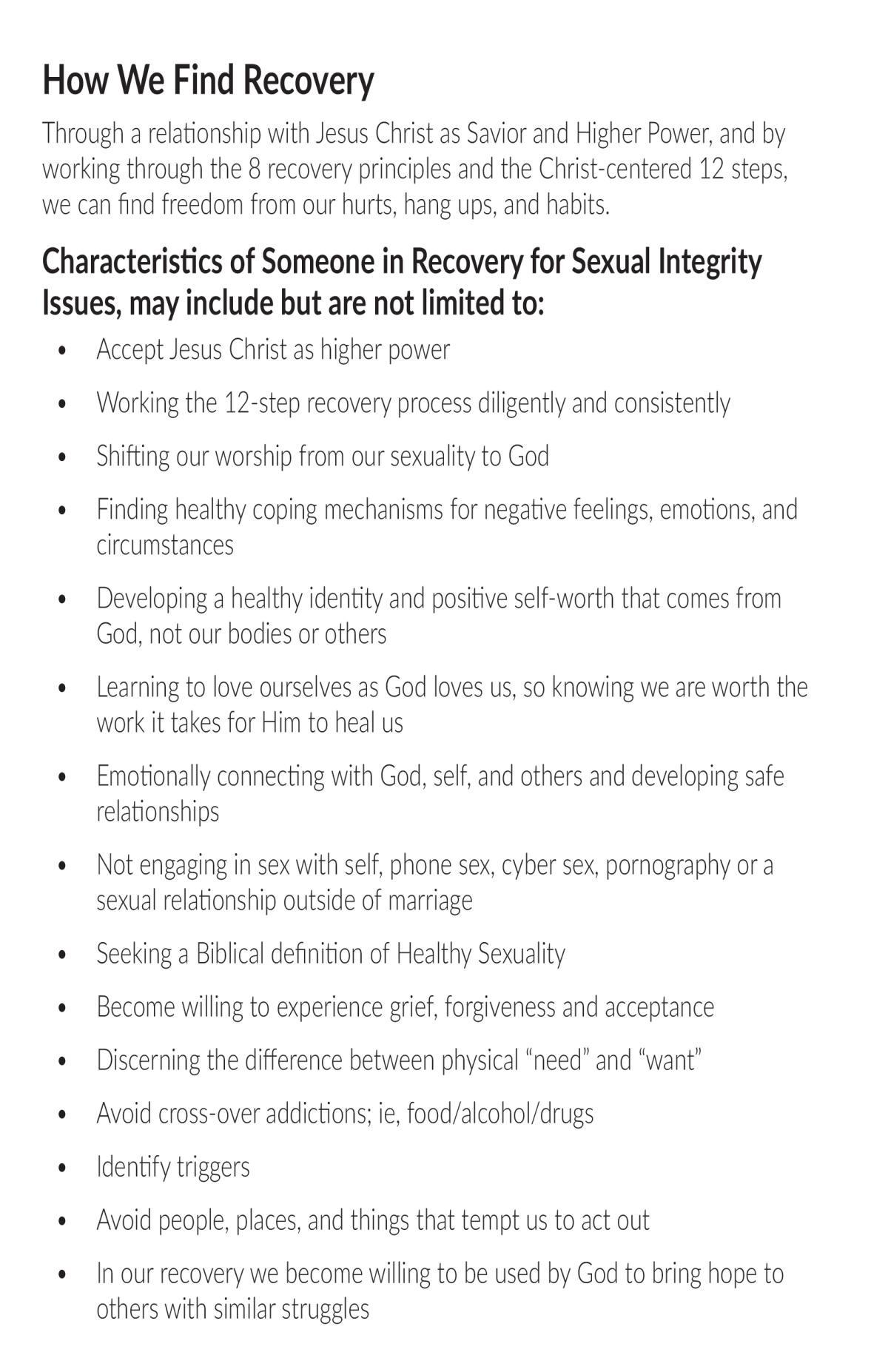 Sexual Integrity for Women
