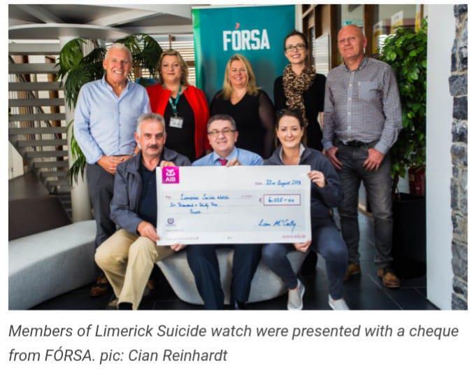 Fórsa cycle raises funds for Limerick Suicide Prevention. Limerick Post By Cian Reinhardt