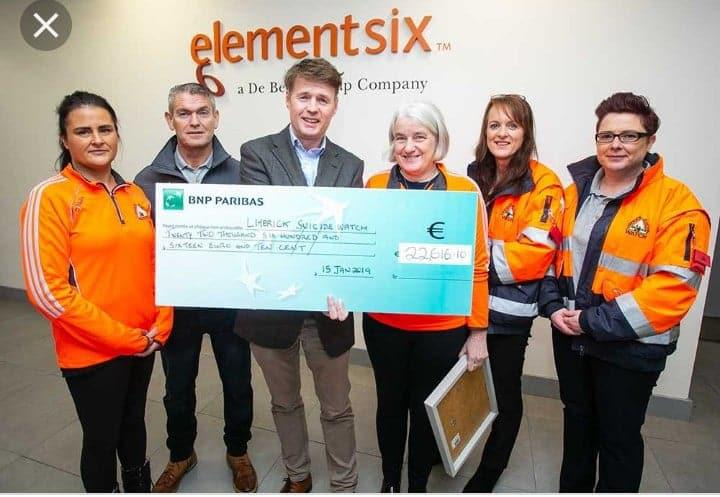 Element Six fundraiser raises €22,616 for Limerick Suicide Watch : i love Limerick