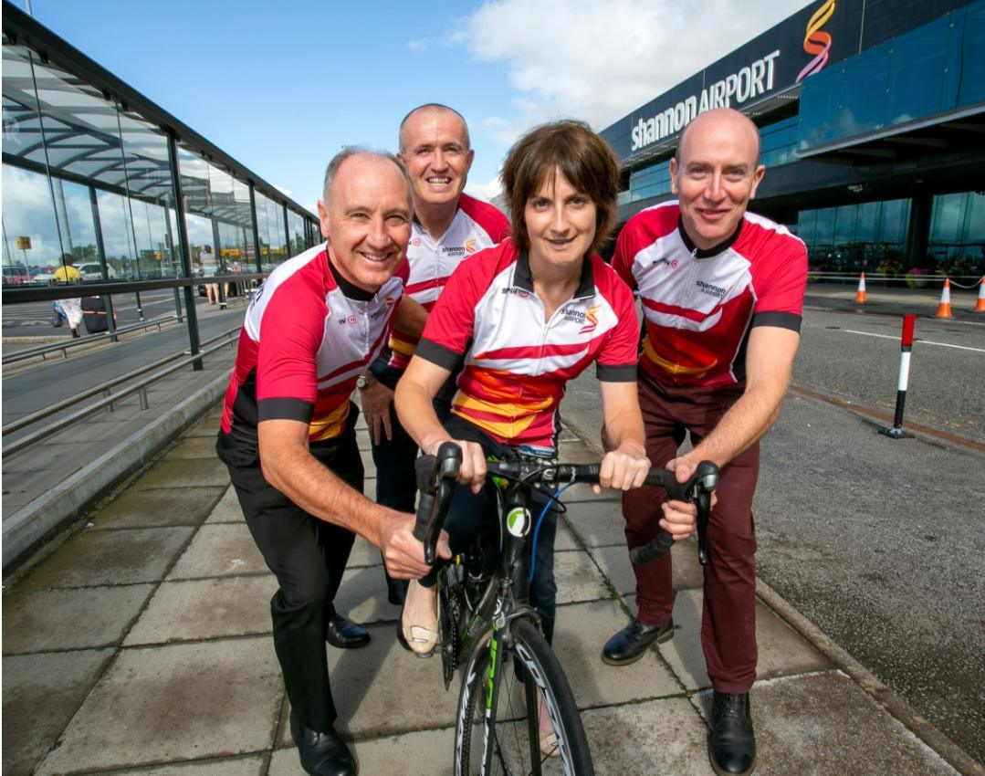Shannon Airport staff getting on their bikes for charity. The Clare Echo by Páraic McMahon
