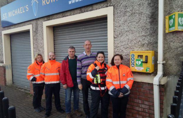 A new AED has been added to St. Michael's Rowing Club for use by Limerick Suicide Watch and the People of LimerickBy Richard Lynch on December 10, 2019