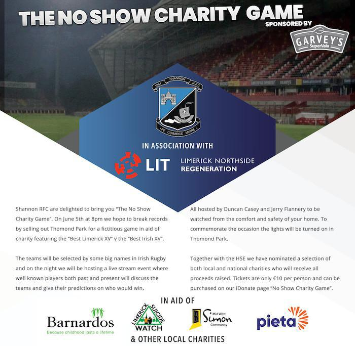 Shannon RFC Present: The No Show Game – Stay home and show your support!