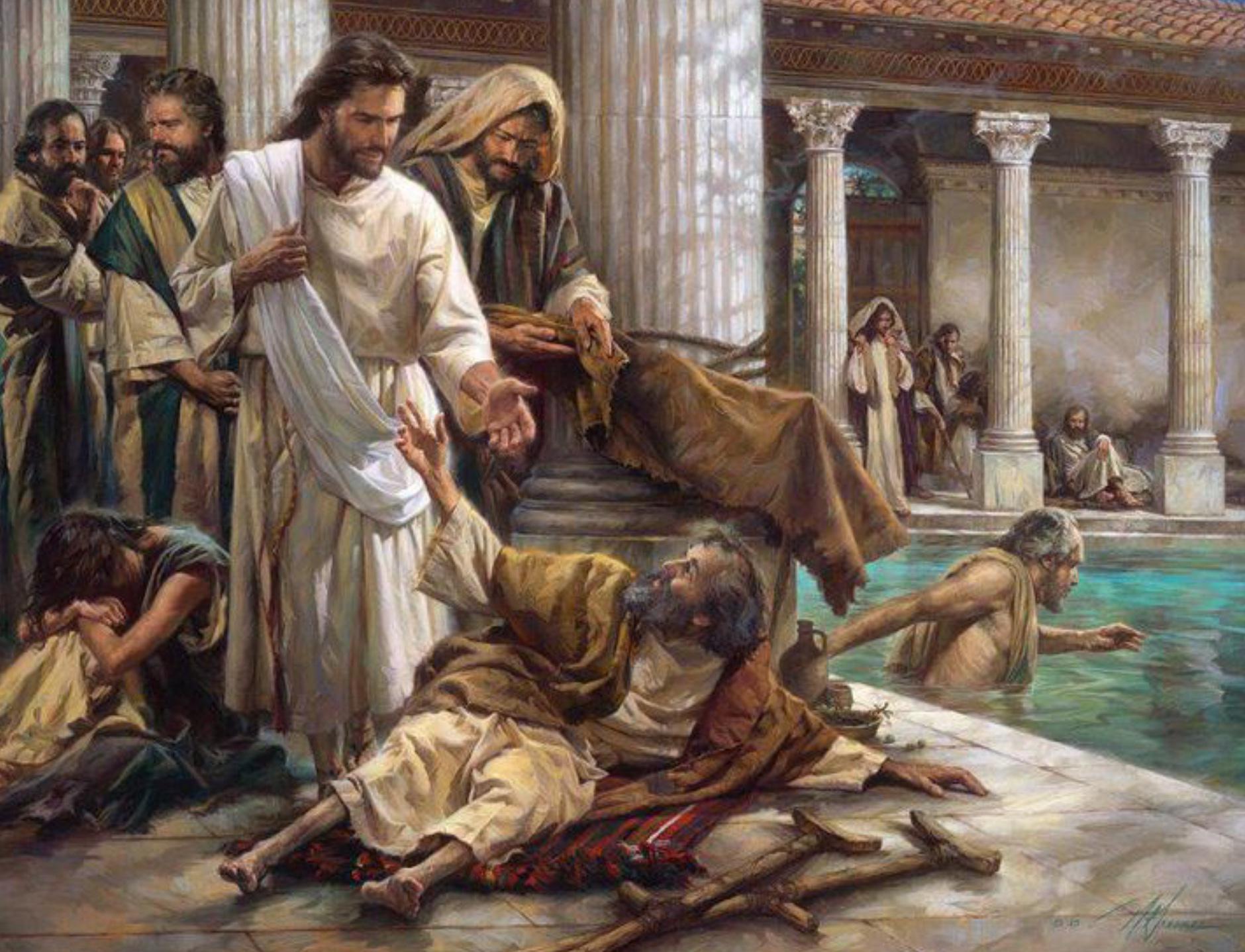 Resultado de imagen para jesus sana a un invalido