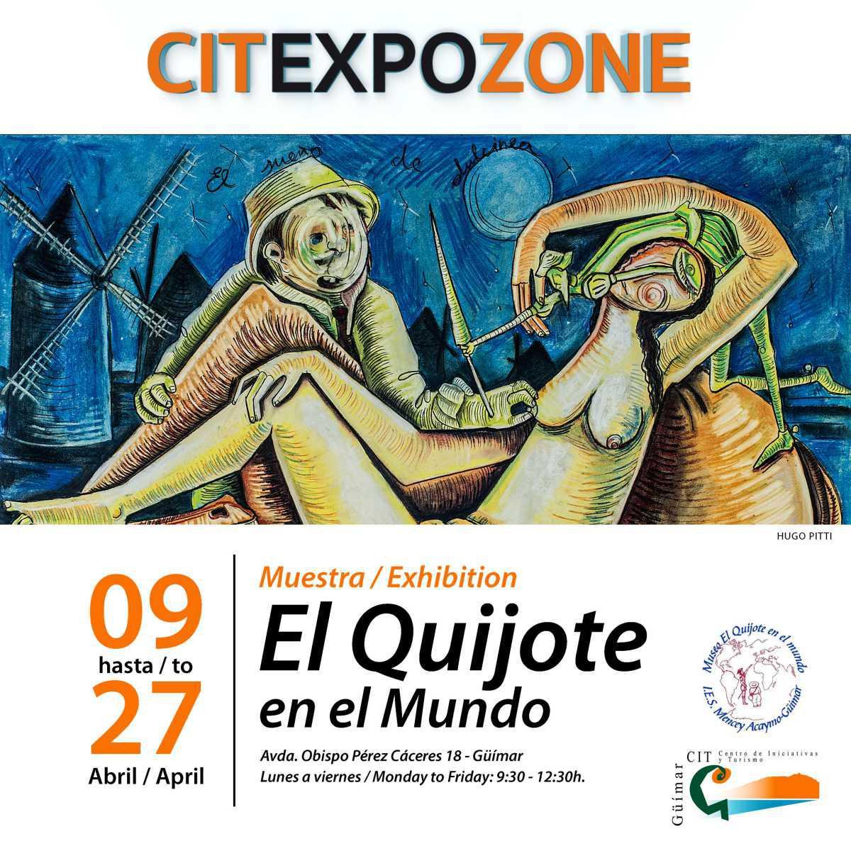 El CIT de Güímar inicia abril con una muestra dedidaca al Museo de El Quijote.