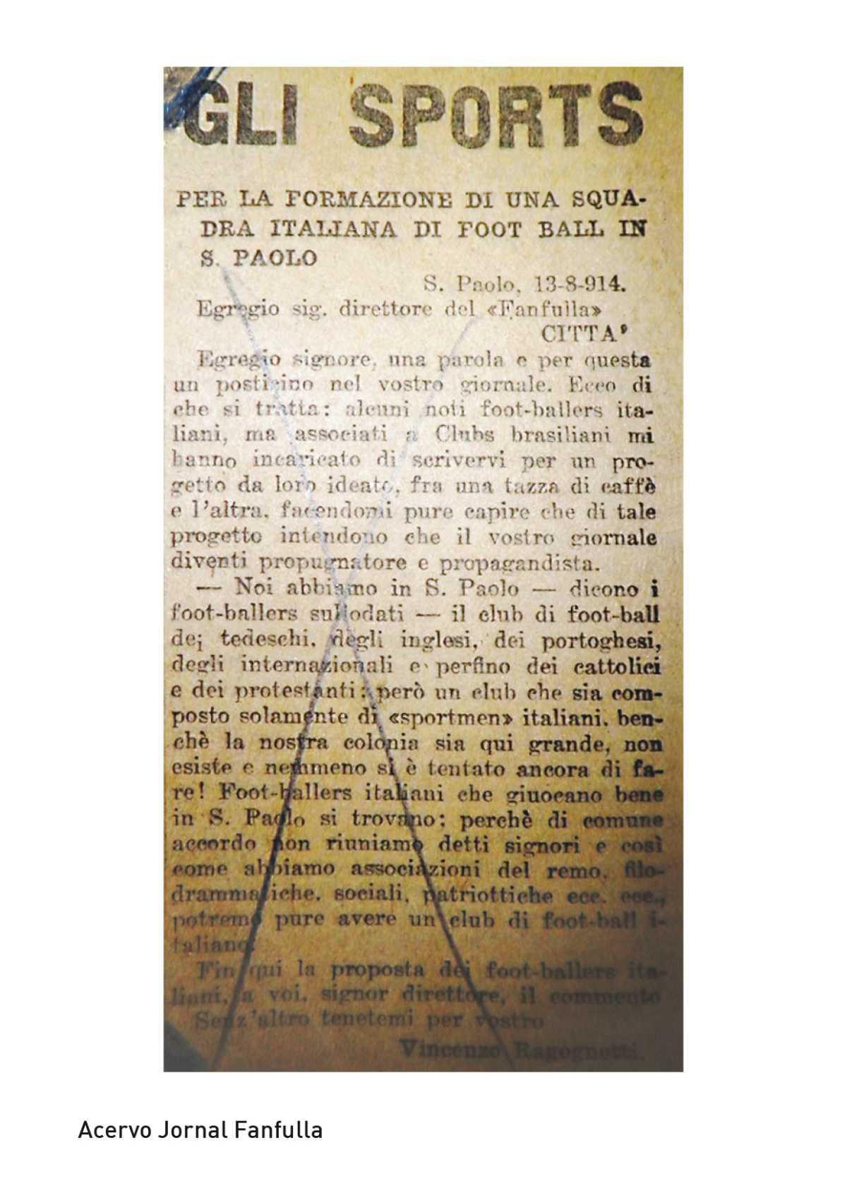 A carta para a fundação