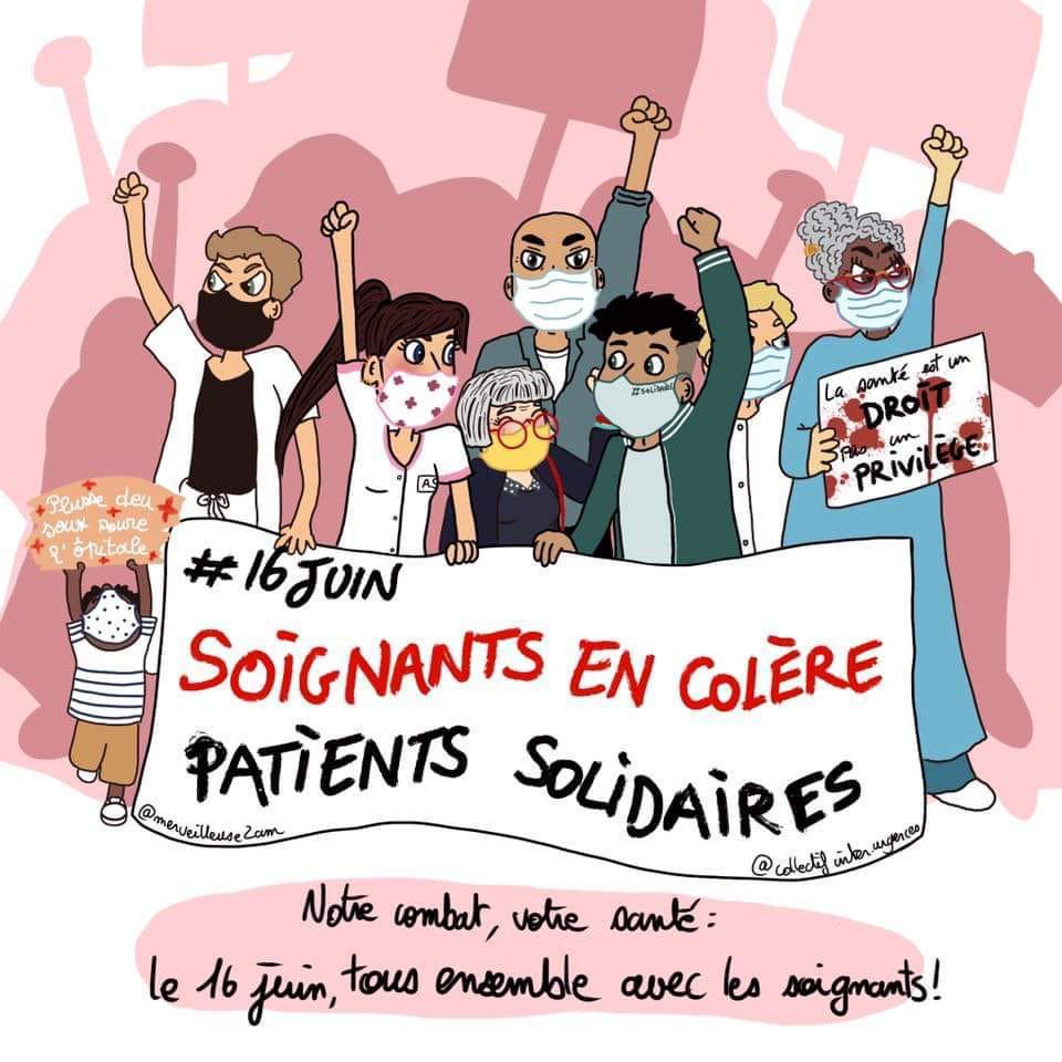 Manifestation des soignants