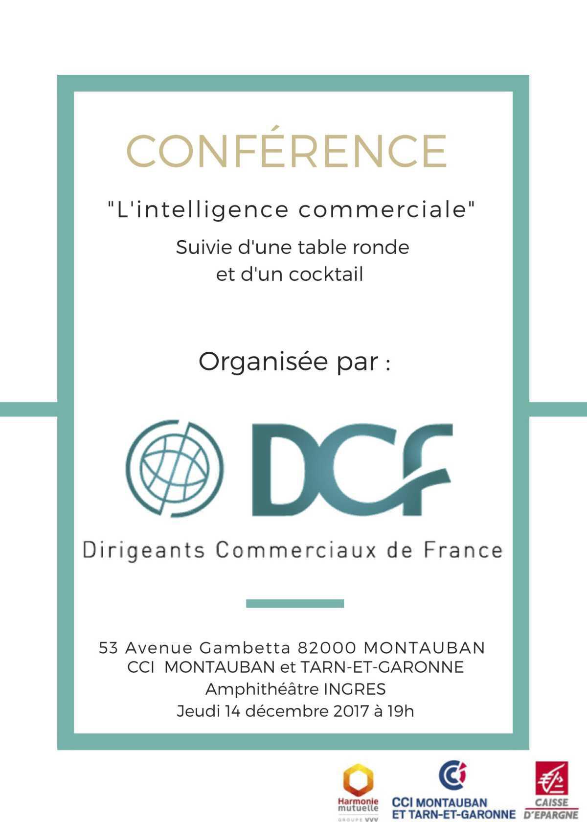 La 1ère soirée DCF organisée à Montauban sur le thème de l'Intelligence Commerciale.