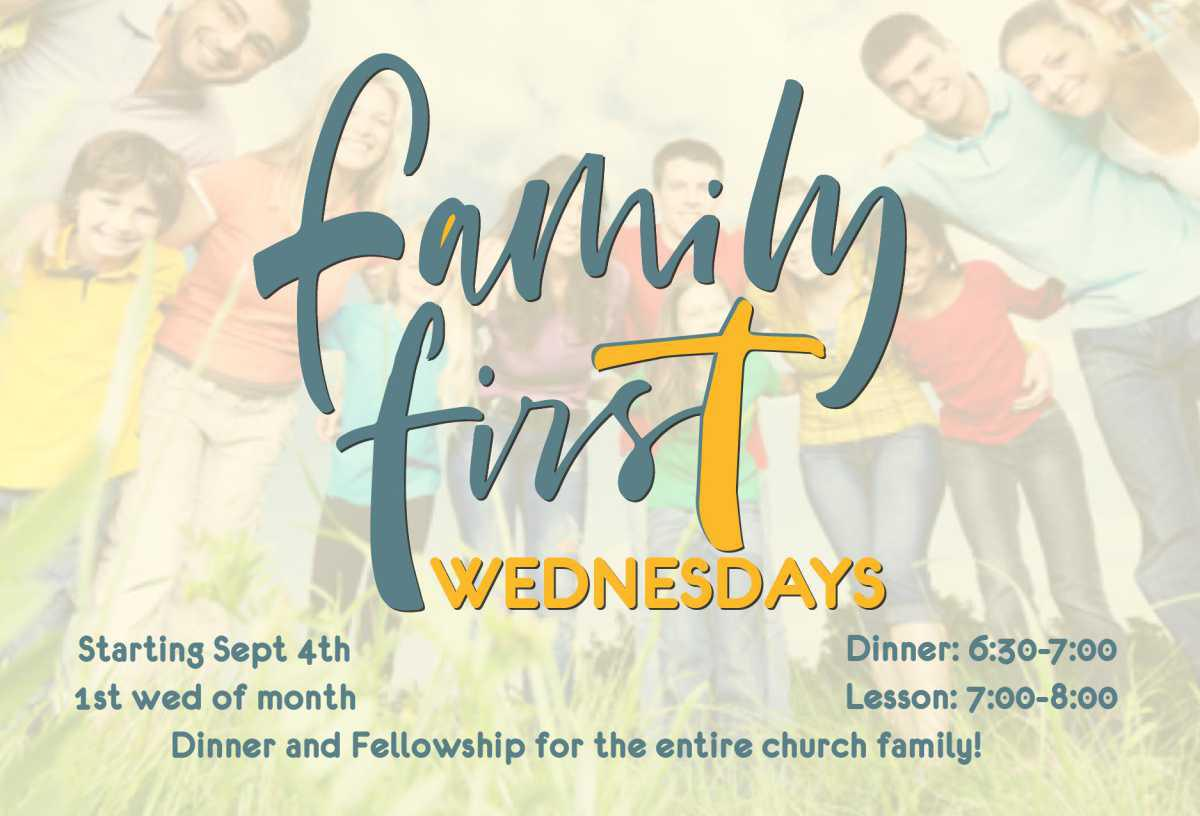 Family First Wednesdays